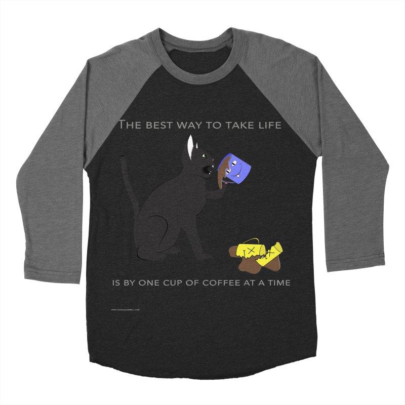 One Cup At A Time Men's Baseball Triblend Longsleeve T-Shirt by Every Drop's An Idea's Artist Shop