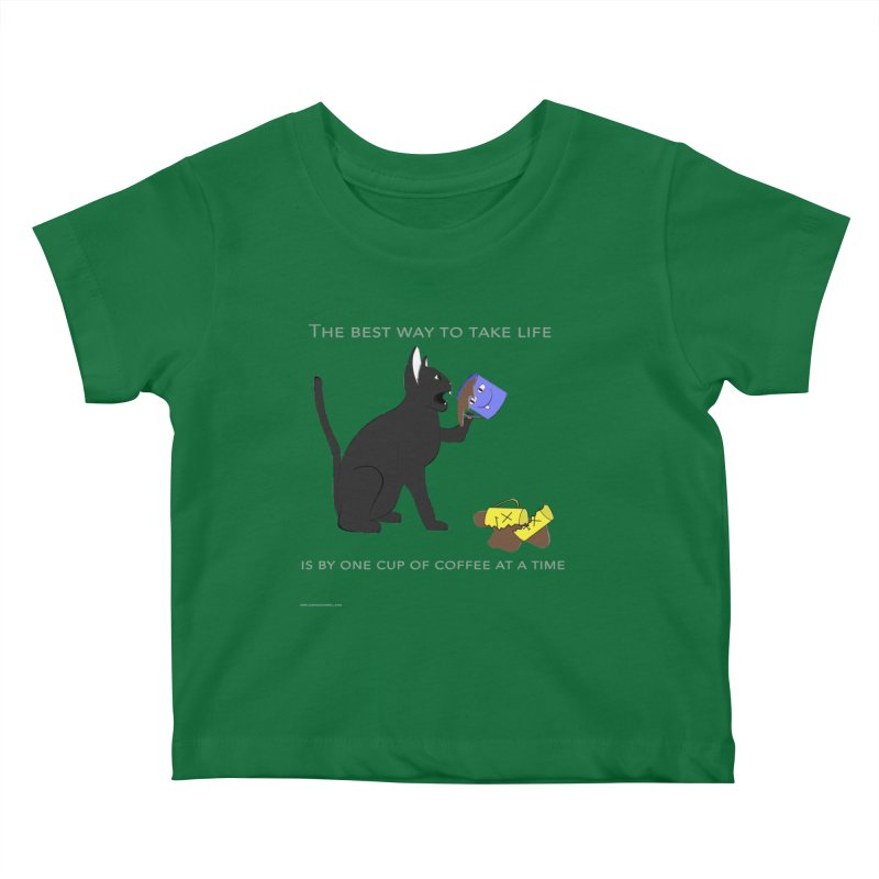 One Cup At A Time Kids Baby T-Shirt by Every Drop's An Idea's Artist Shop
