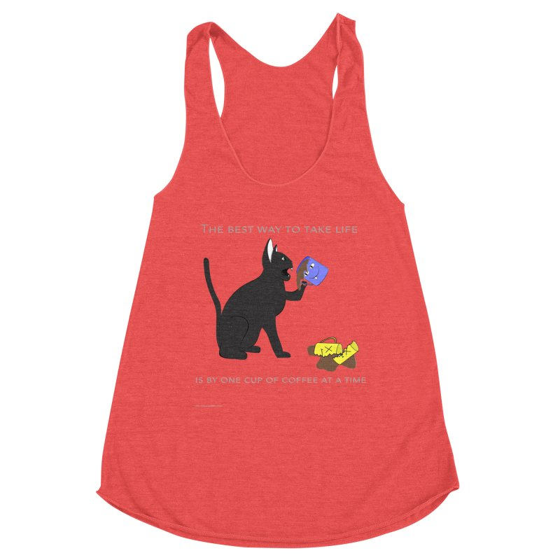 One Cup At A Time Women's Racerback Triblend Tank by Every Drop's An Idea's Artist Shop
