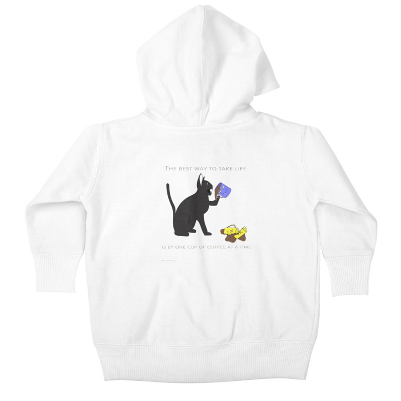 One Cup At A Time Kids Baby Zip-Up Hoody by Every Drop's An Idea's Artist Shop