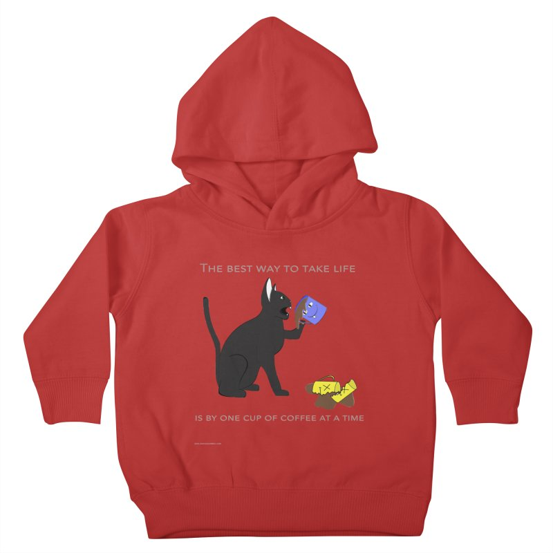 One Cup At A Time Kids Toddler Pullover Hoody by Every Drop's An Idea's Artist Shop