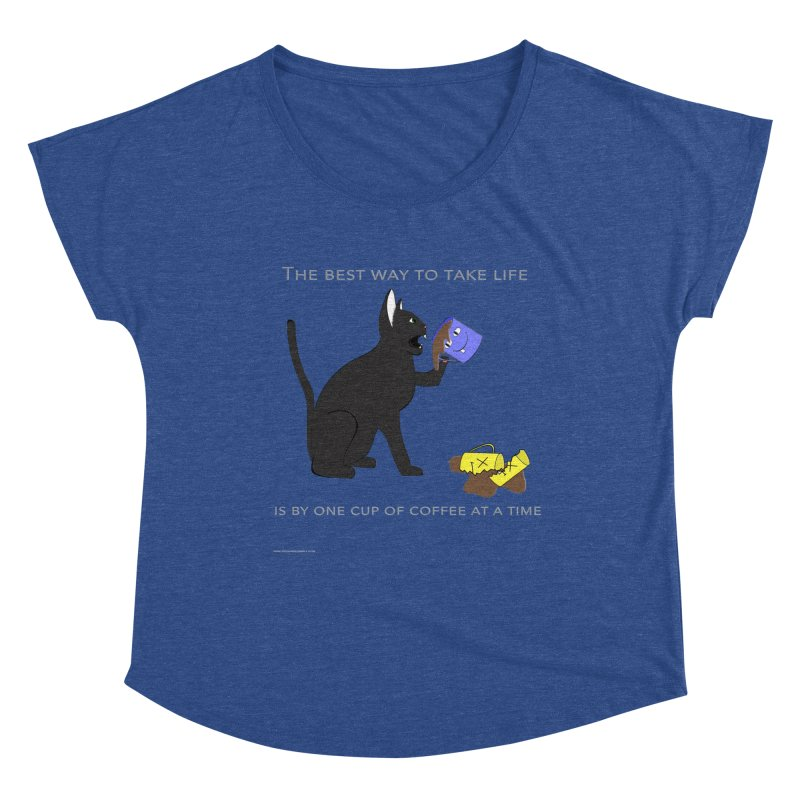 One Cup At A Time Women's Dolman Scoop Neck by Every Drop's An Idea's Artist Shop