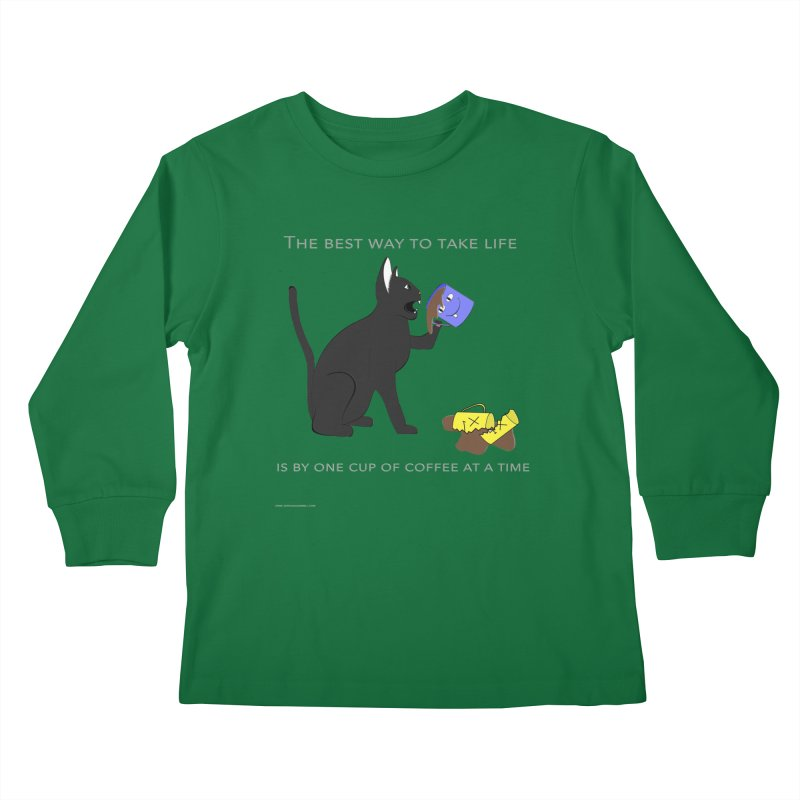 One Cup At A Time Kids Longsleeve T-Shirt by Every Drop's An Idea's Artist Shop