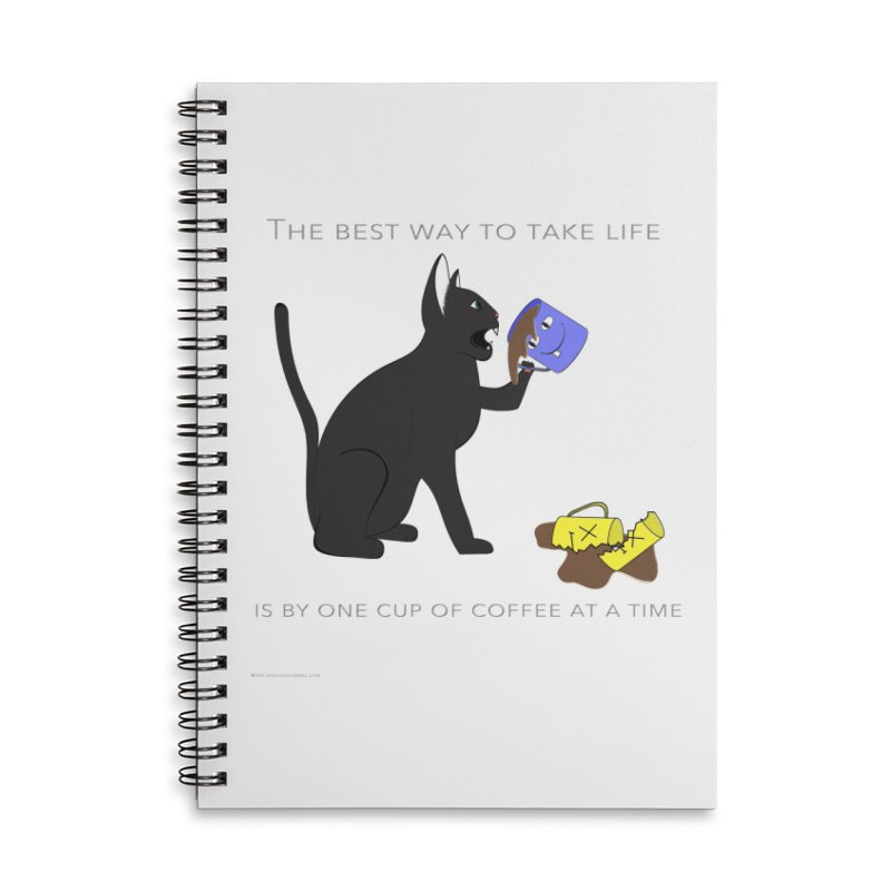 One Cup At A Time Accessories Notebook by Every Drop's An Idea's Artist Shop