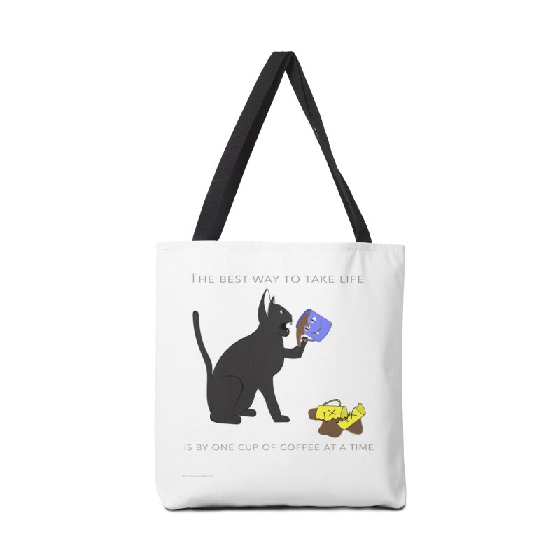 One Cup At A Time Accessories Bag by Every Drop's An Idea's Artist Shop