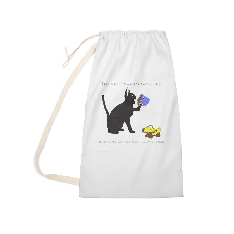 One Cup At A Time Accessories Laundry Bag Bag by Every Drop's An Idea's Artist Shop