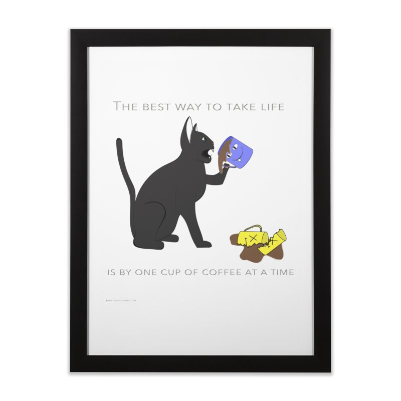 One Cup At A Time Home Framed Fine Art Print by Every Drop's An Idea's Artist Shop
