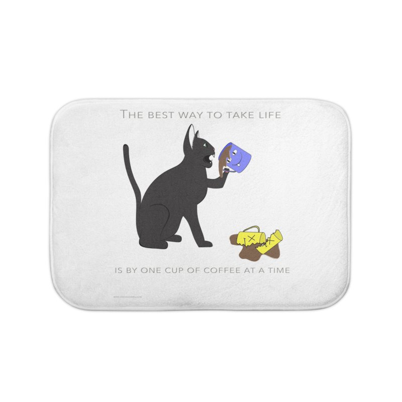 One Cup At A Time Home Bath Mat by Every Drop's An Idea's Artist Shop