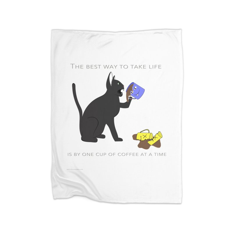 One Cup At A Time Home Fleece Blanket Blanket by Every Drop's An Idea's Artist Shop