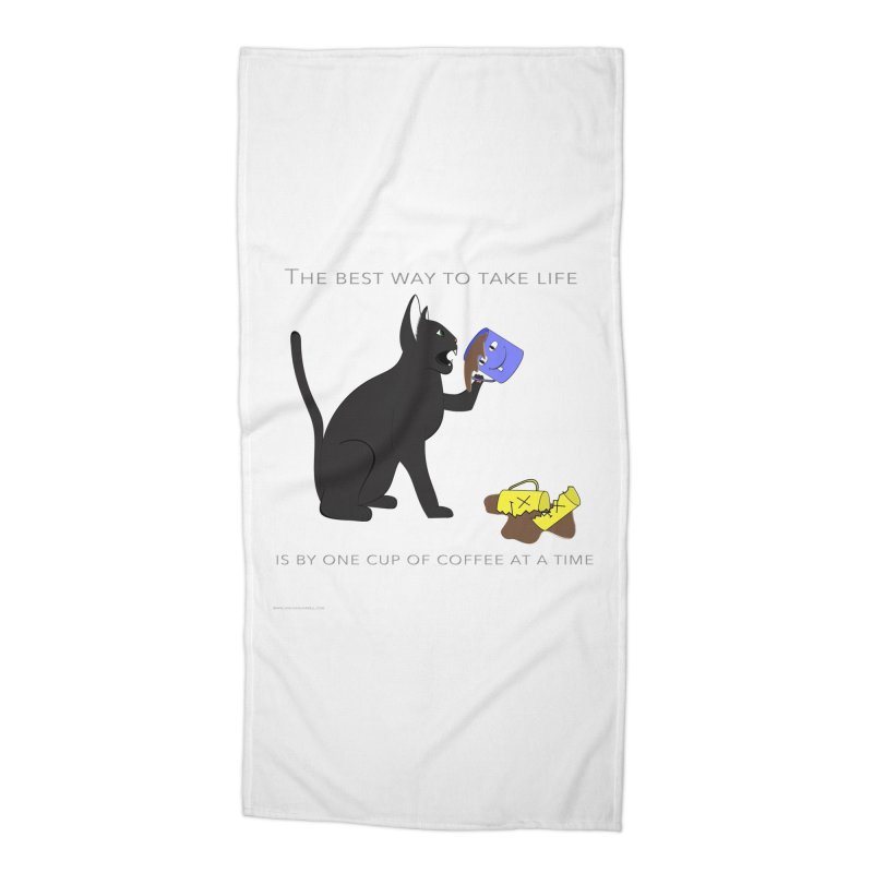 One Cup At A Time Accessories Beach Towel by Every Drop's An Idea's Artist Shop