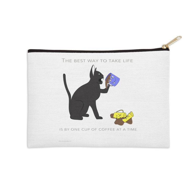 One Cup At A Time Accessories Zip Pouch by Every Drop's An Idea's Artist Shop