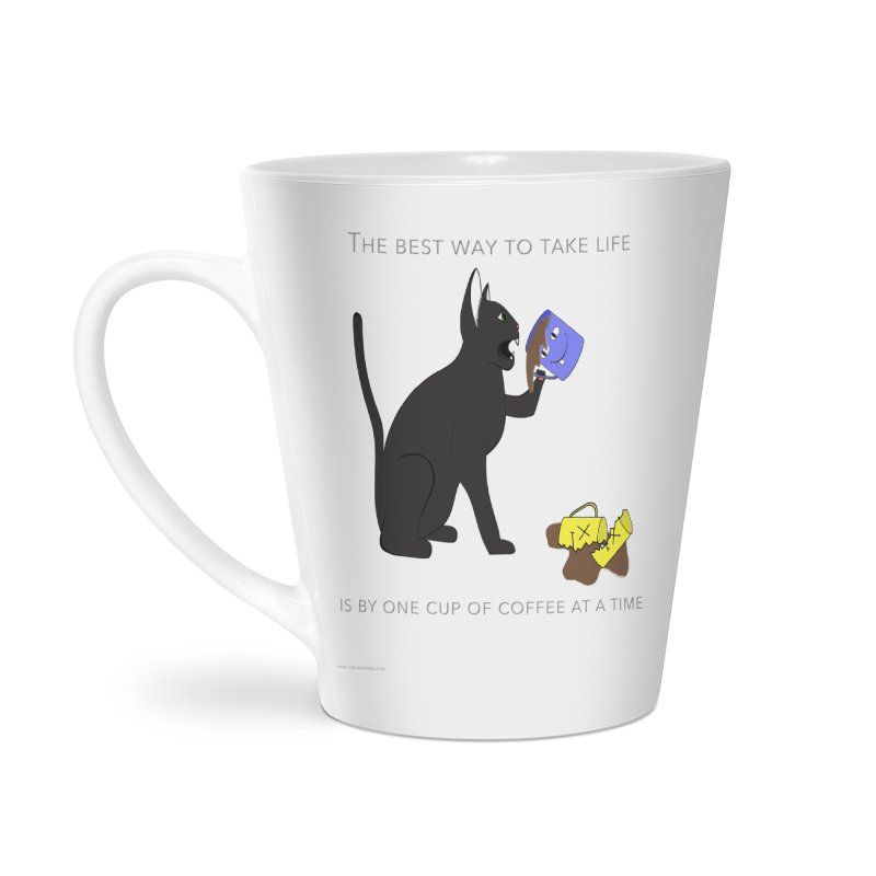 One Cup At A Time Accessories Latte Mug by Every Drop's An Idea's Artist Shop