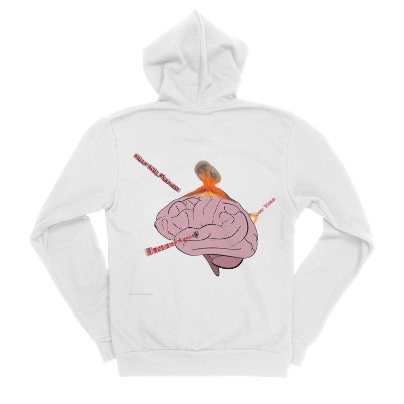 Mind Field Men's Sponge Fleece Zip-Up Hoody by Every Drop's An Idea's Artist Shop