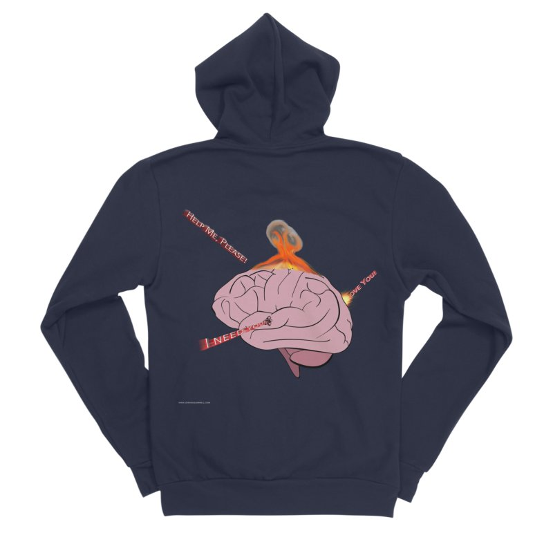 Mind Field Women's Sponge Fleece Zip-Up Hoody by Every Drop's An Idea's Artist Shop