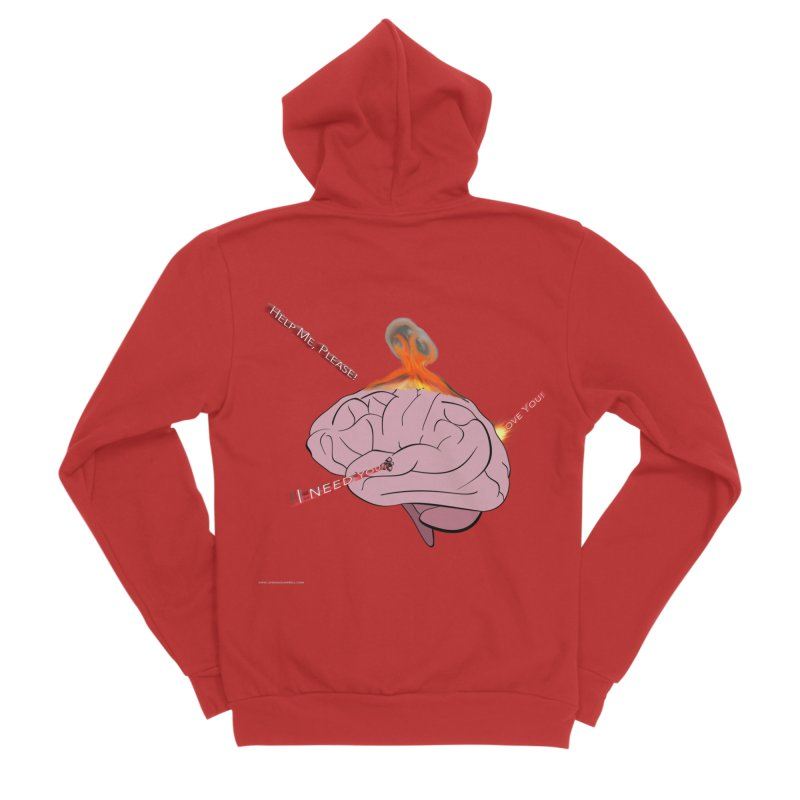 Mind Field Men's Zip-Up Hoody by Every Drop's An Idea's Artist Shop