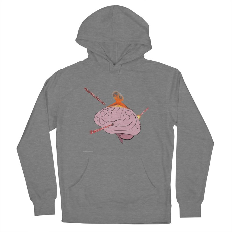 Mind Field Men's French Terry Pullover Hoody by Every Drop's An Idea's Artist Shop