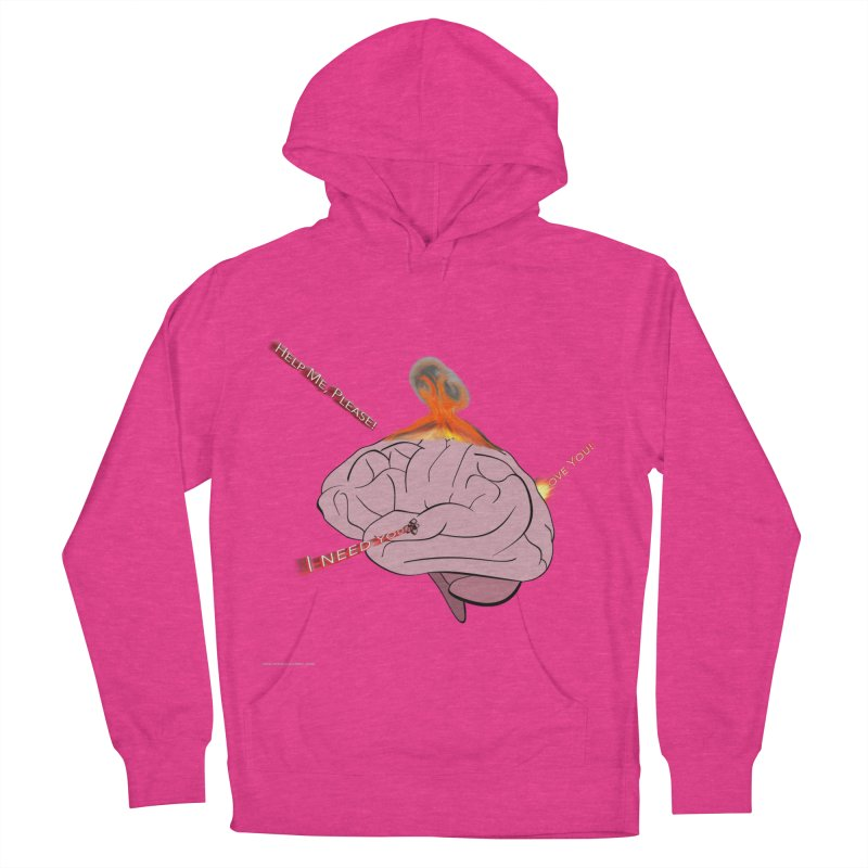 Mind Field Women's French Terry Pullover Hoody by Every Drop's An Idea's Artist Shop