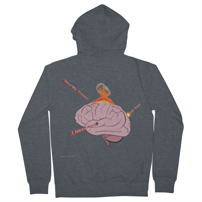 Mind Field Men's French Terry Zip-Up Hoody by Every Drop's An Idea's Artist Shop