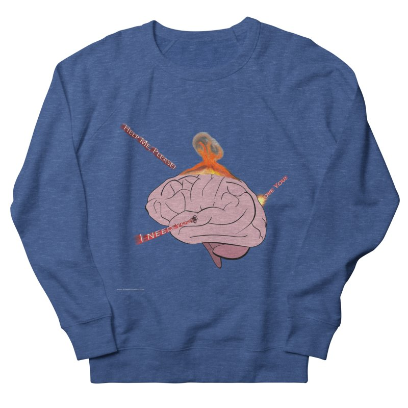 Mind Field Men's French Terry Sweatshirt by Every Drop's An Idea's Artist Shop