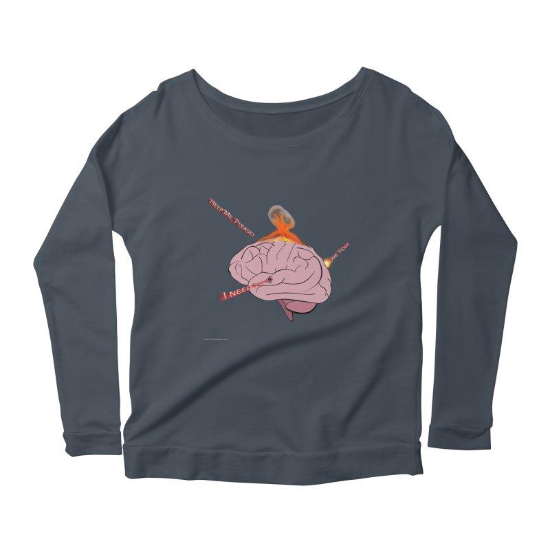 Mind Field Women's Scoop Neck Longsleeve T-Shirt by Every Drop's An Idea's Artist Shop