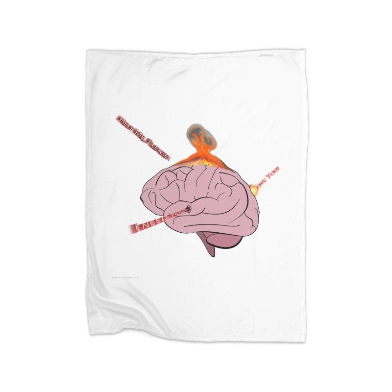 Mind Field Home Fleece Blanket Blanket by Every Drop's An Idea's Artist Shop