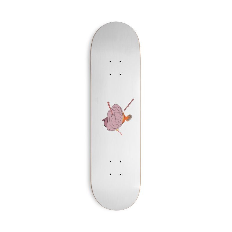 Mind Field Accessories Deck Only Skateboard by Every Drop's An Idea's Artist Shop
