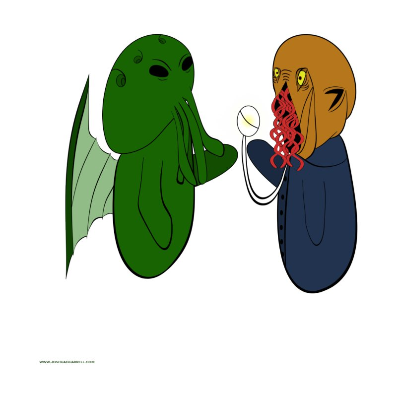 Cthulhu Meets Ood Home Mounted Acrylic Print by Every Drop's An Idea's Artist Shop