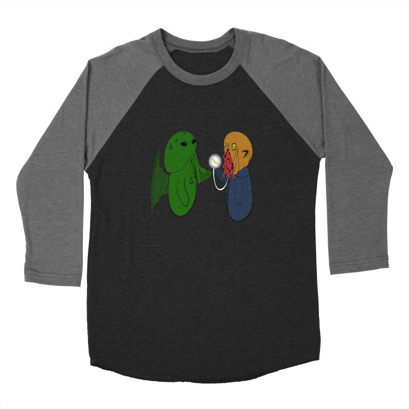 Cthulhu Meets Ood Men's Baseball Triblend Longsleeve T-Shirt by Every Drop's An Idea's Artist Shop
