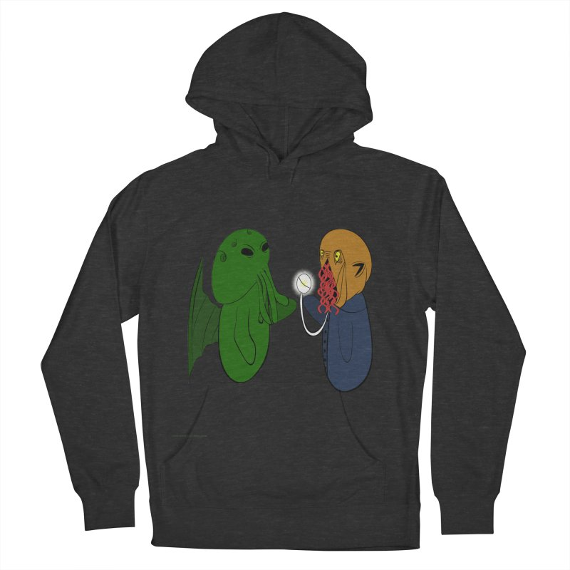 Cthulhu Meets Ood Men's French Terry Pullover Hoody by Every Drop's An Idea's Artist Shop