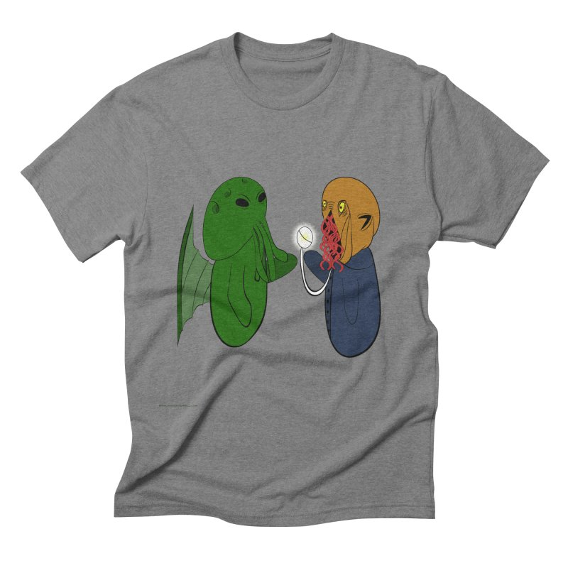 Cthulhu Meets Ood Men's Triblend T-Shirt by Every Drop's An Idea's Artist Shop