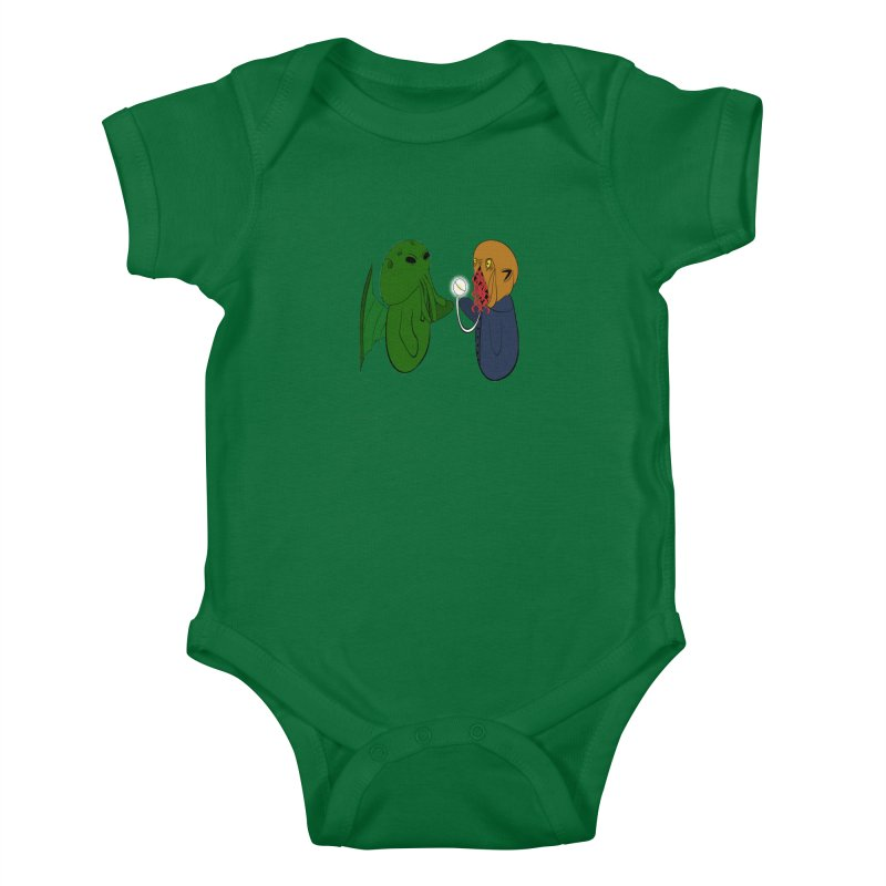 Cthulhu Meets Ood Kids Baby Bodysuit by Every Drop's An Idea's Artist Shop