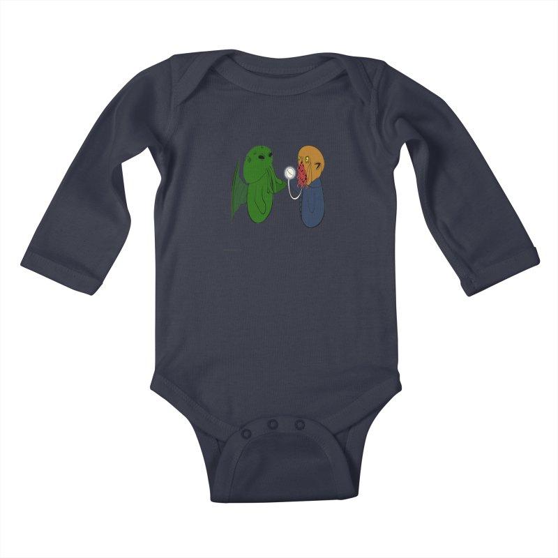 Cthulhu Meets Ood Kids Baby Longsleeve Bodysuit by Every Drop's An Idea's Artist Shop