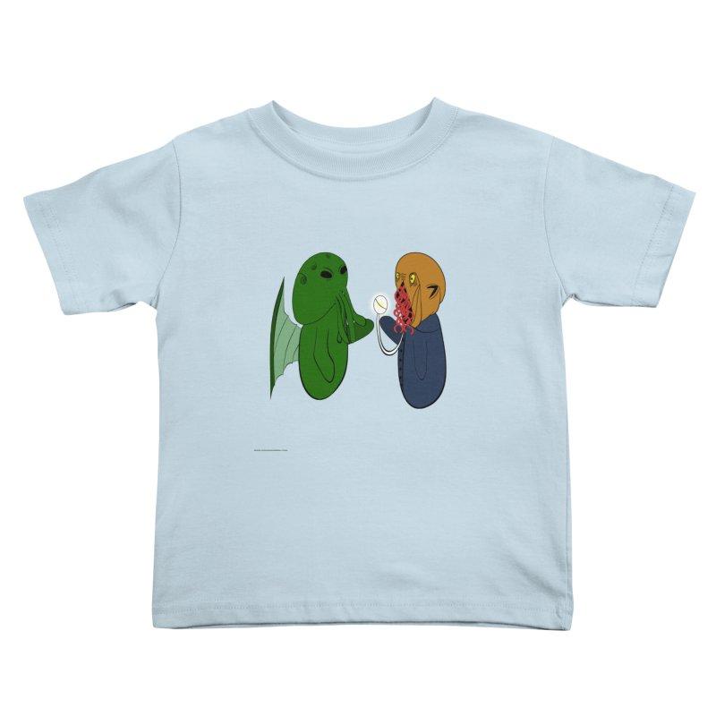 Cthulhu Meets Ood Kids Toddler T-Shirt by Every Drop's An Idea's Artist Shop