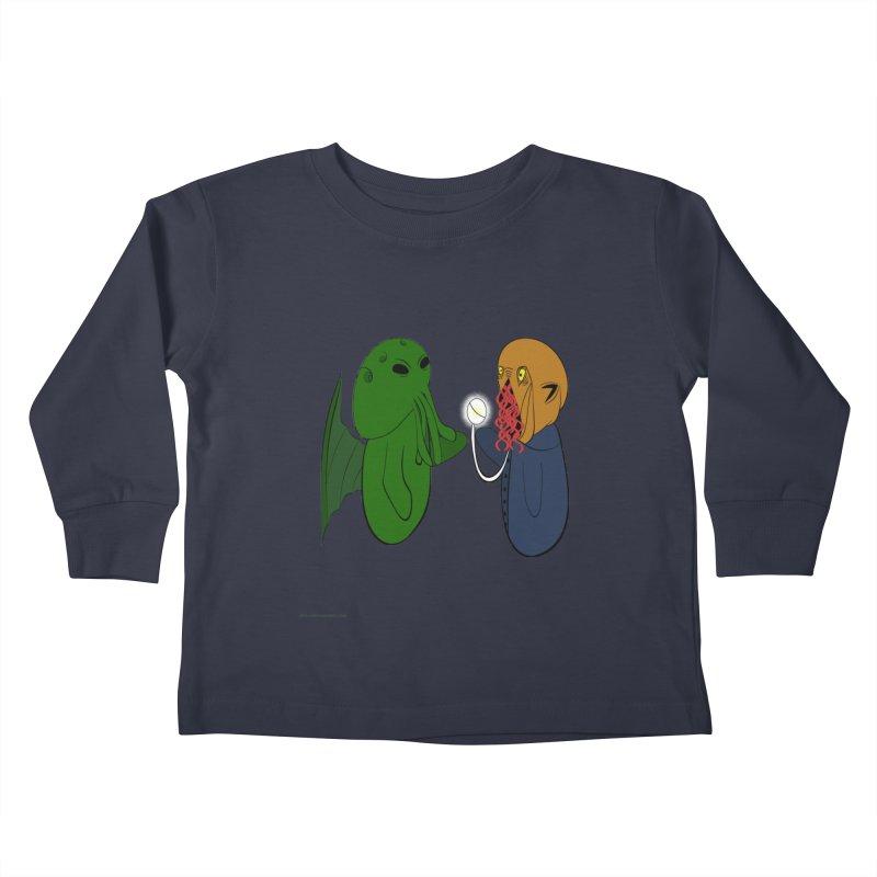 Cthulhu Meets Ood Kids Toddler Longsleeve T-Shirt by Every Drop's An Idea's Artist Shop