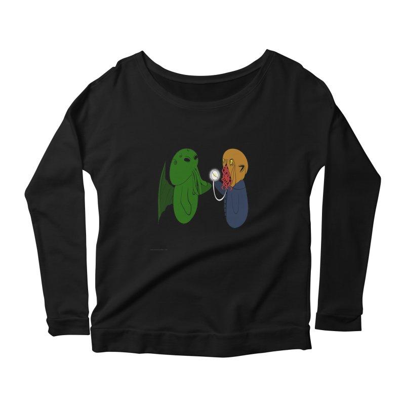 Cthulhu Meets Ood Women's Scoop Neck Longsleeve T-Shirt by Every Drop's An Idea's Artist Shop