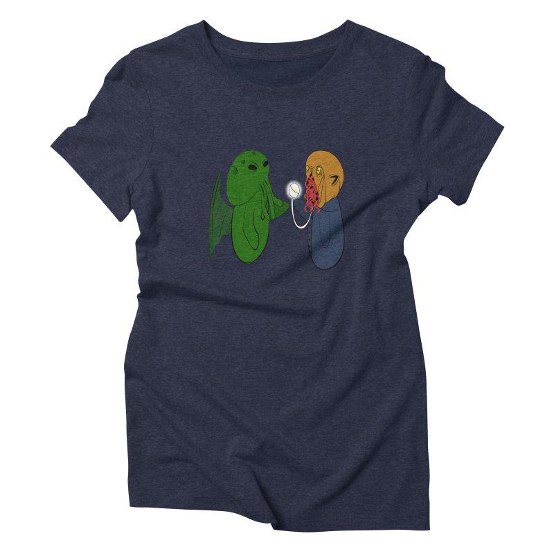 Cthulhu Meets Ood Women's Triblend T-Shirt by Every Drop's An Idea's Artist Shop