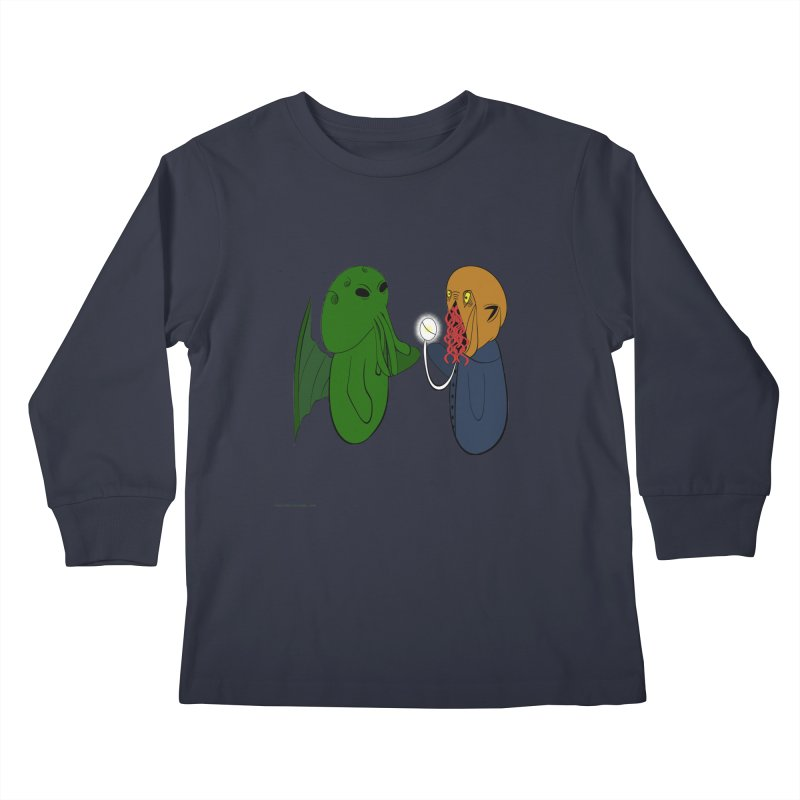 Cthulhu Meets Ood Kids Longsleeve T-Shirt by Every Drop's An Idea's Artist Shop