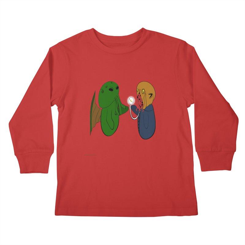 Cthulhu Meets Ood Kids Longsleeve T-Shirt by Every Drop's An Idea's Artist Shop