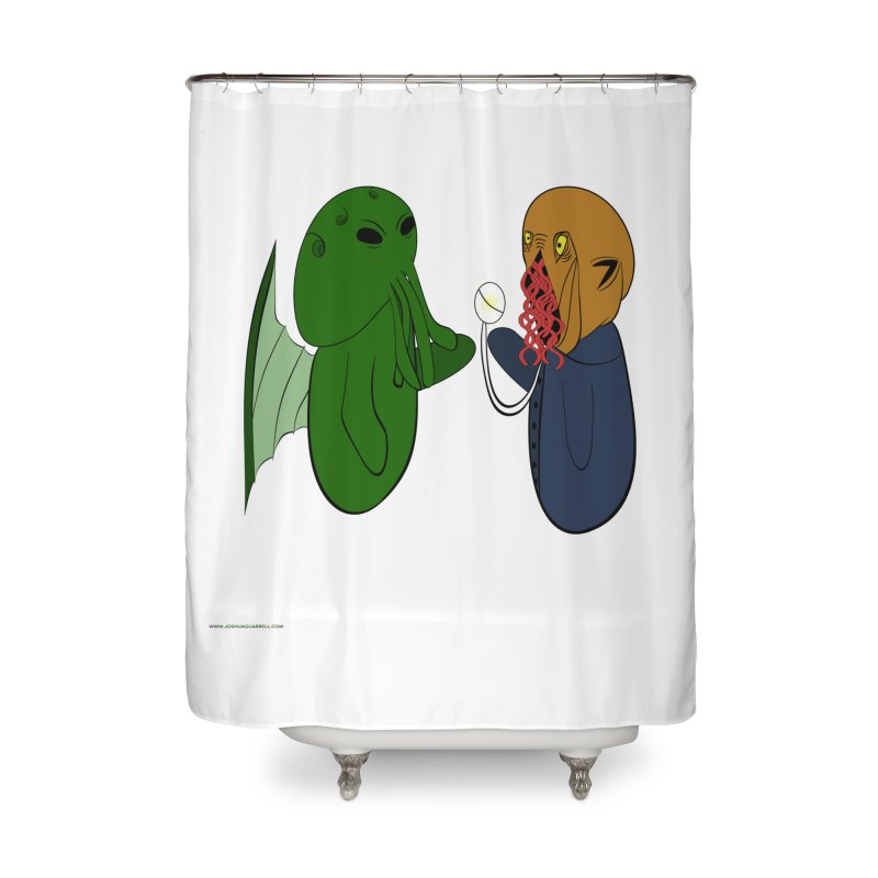 Cthulhu Meets Ood Home Shower Curtain by Every Drop's An Idea's Artist Shop