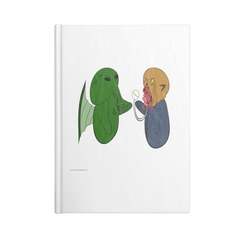 Cthulhu Meets Ood Accessories Lined Journal Notebook by Every Drop's An Idea's Artist Shop