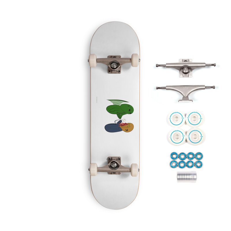 Cthulhu Meets Ood Accessories Skateboard by Every Drop's An Idea's Artist Shop