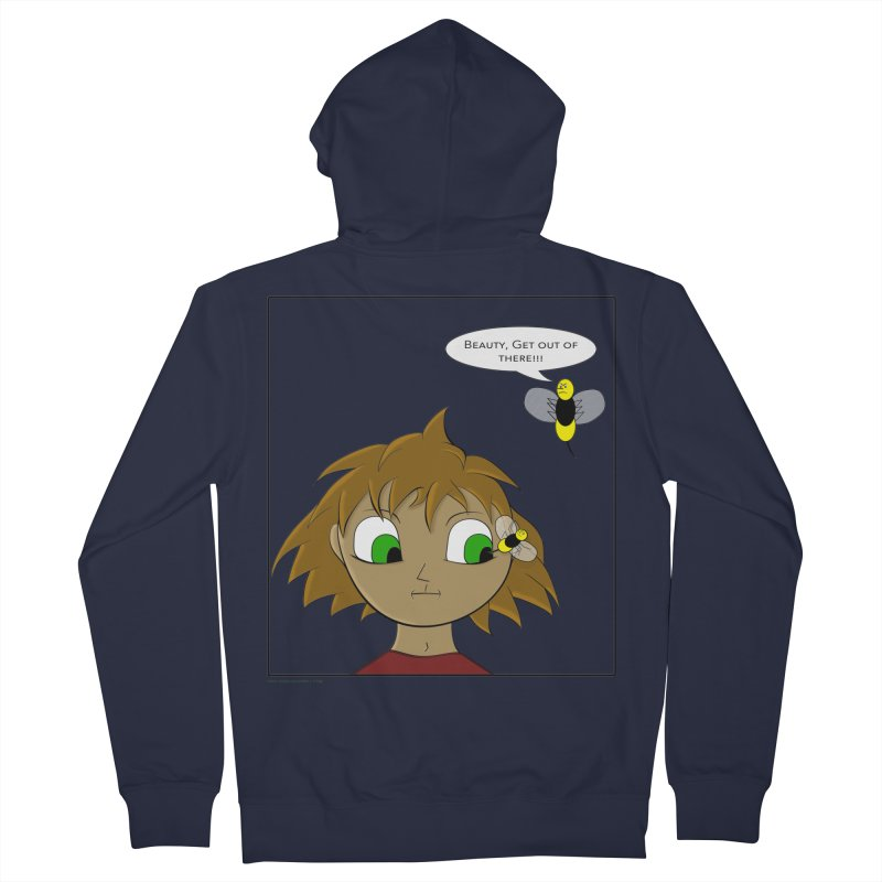 Eye of The Beholder Men's French Terry Zip-Up Hoody by Every Drop's An Idea's Artist Shop