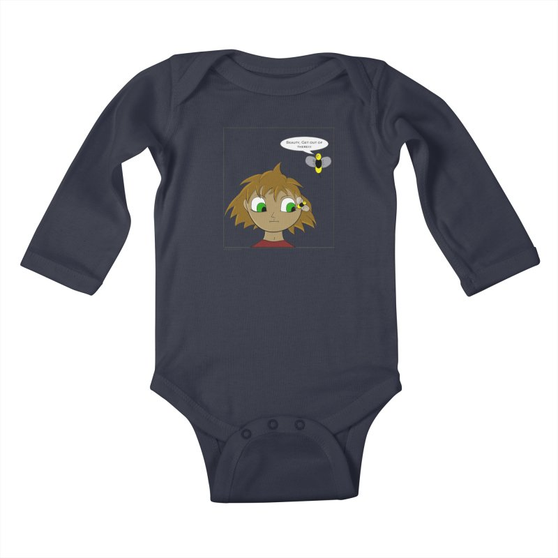 Eye of The Beholder Kids Baby Longsleeve Bodysuit by Every Drop's An Idea's Artist Shop