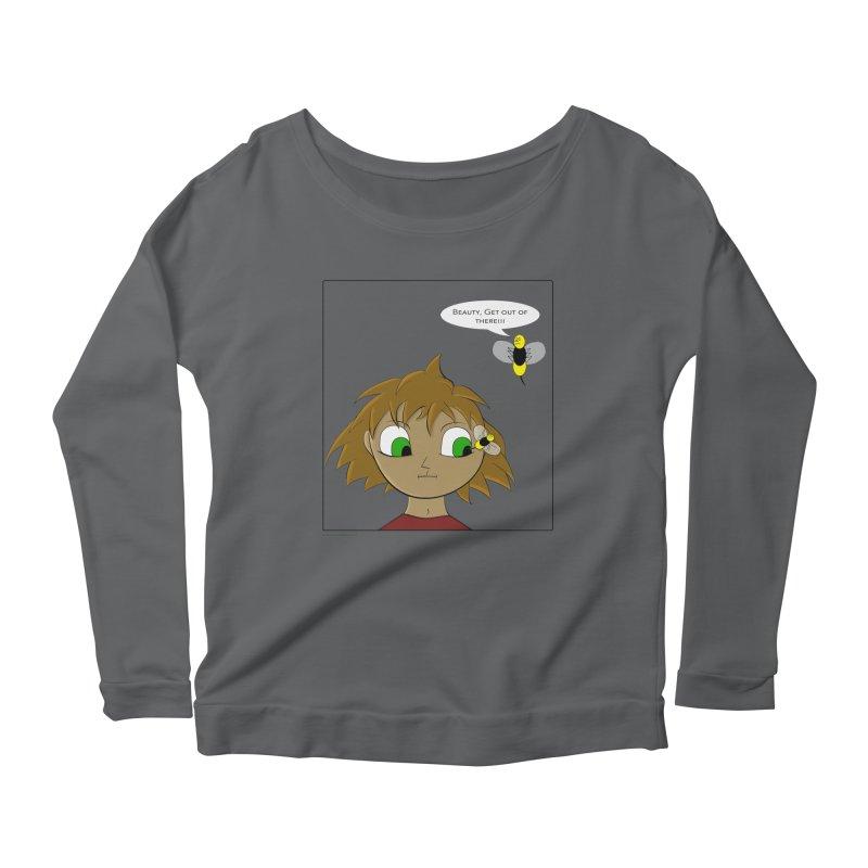 Eye of The Beholder Women's Scoop Neck Longsleeve T-Shirt by Every Drop's An Idea's Artist Shop