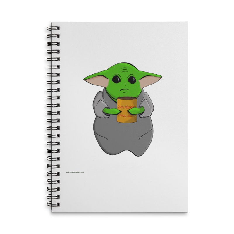 Anti-Murder Juicy Accessories Lined Spiral Notebook by Every Drop's An Idea's Artist Shop