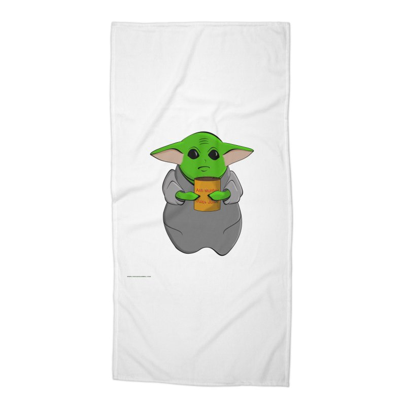 Anti-Murder Juicy Accessories Beach Towel by Every Drop's An Idea's Artist Shop