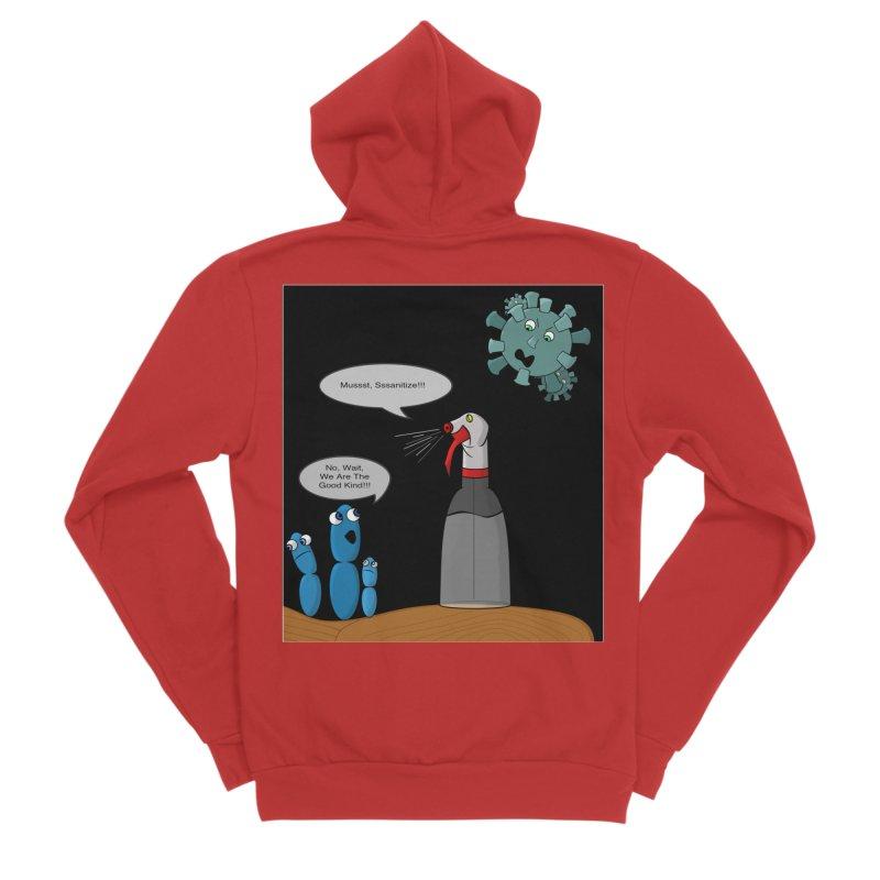 I'm Good Bacteria Men's Zip-Up Hoody by Every Drop's An Idea's Artist Shop