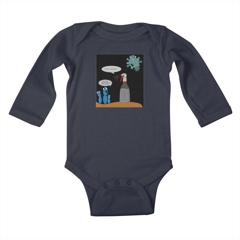 I'm Good Bacteria Kids Baby Longsleeve Bodysuit by Every Drop's An Idea's Artist Shop