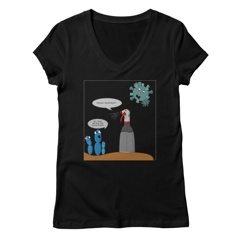 I'm Good Bacteria Women's V-Neck by Every Drop's An Idea's Artist Shop
