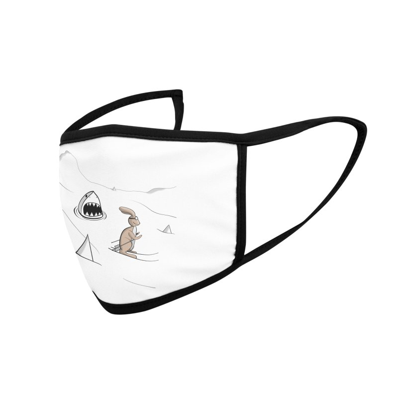 Snow Bunny Accessories Face Mask by Every Drop's An Idea's Artist Shop
